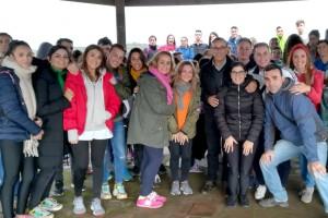 Jóvenes de Bonares, Rociana del Condado, Almonte y Niebla visitan el Centro de Interpretación 'Huerto Ramírez'.