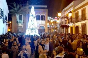 Navidad 2018. Las luces ya anuncian la Navidad en Bonares.