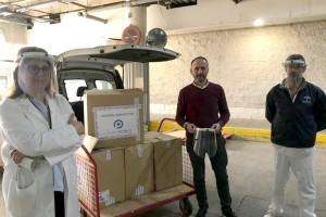 La empresa de Bonares Grupo Ponce crea 1.000 pantallas protectoras para donar a sanitarios y ayuda a domicilio