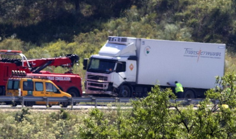 Grave accidente de tráfico con tres victimas mortales entre Lucena y Bonares.