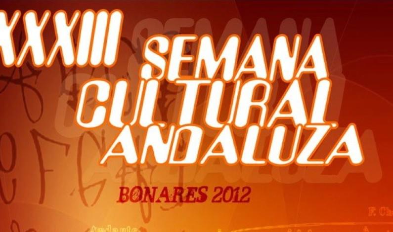 Programación de la Semana Cultural Andaluza de Bonares 2012.