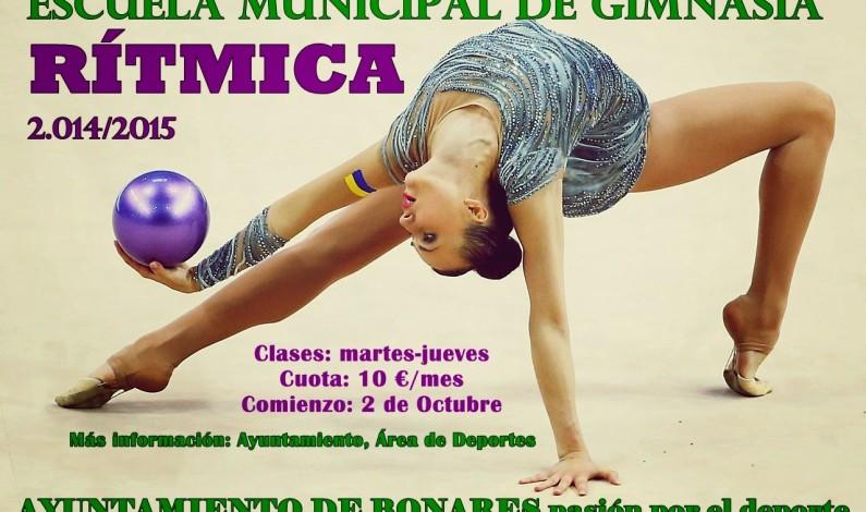 Abierto el plazo de inscripción de la Escuela Municipal de Gimnasia Rítmica.