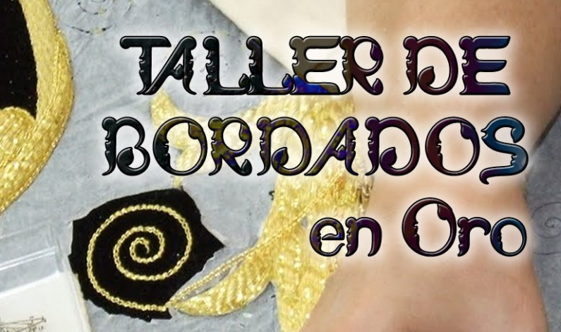 Taller de bordado en oro en Bonares.