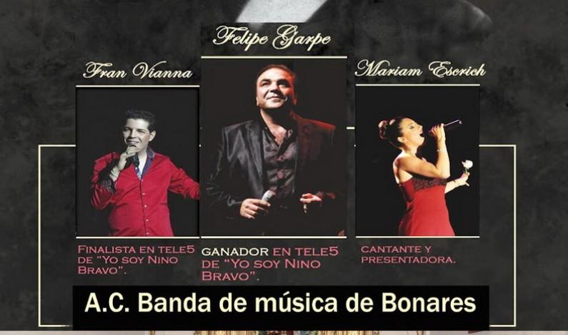 Este domingo, Concierto Homenaje a Nino Bravo junto a la A. C. Banda de Música de Bonares.