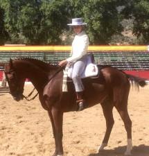 La bonariega María García Velo ha participado en el Campeonato de España de Doma Vaquera 2018.