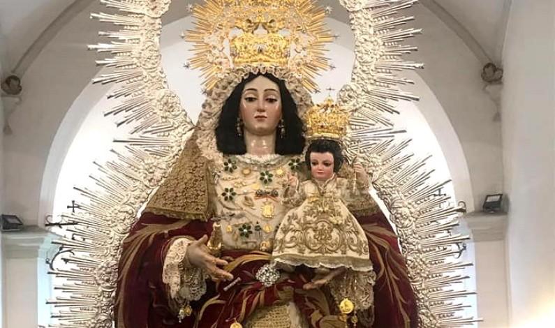Consternación en Rociana por el robo de las joyas de la Virgen del Socorro.