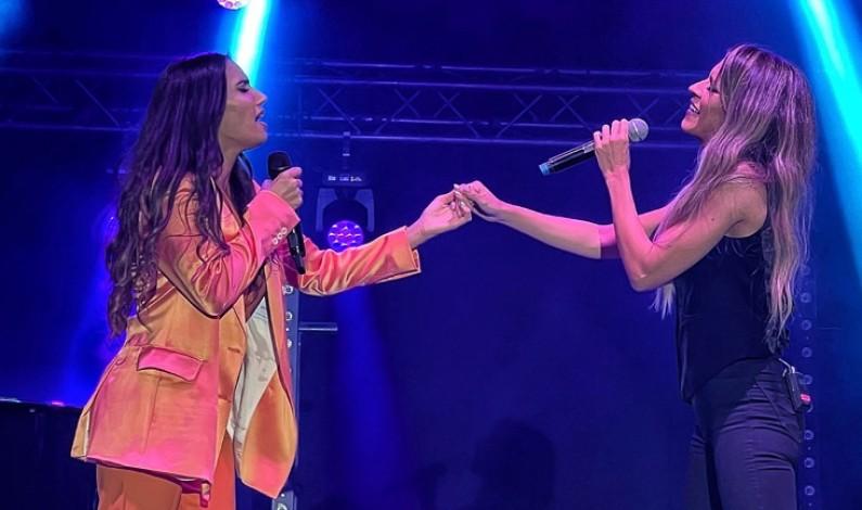India Martínez y Rocío Ojuelos, juntas en el escenario.