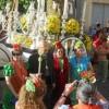 Antonio Bueno lleva a Bonares a El Rocío en su 75 aniversario.
