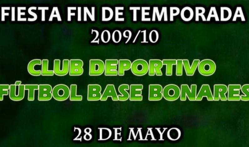 Cena-Fiesta del Club deportivo fútbol Base de Bonares