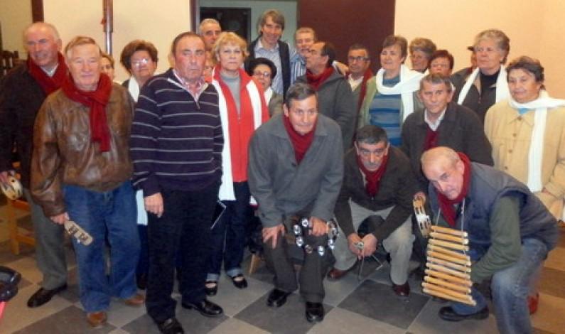 Los campanilleros, con la Peña Barcelonista de Bonares.