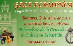 Agotadas las entradas para la Gala Flamenca del próximo sábado.