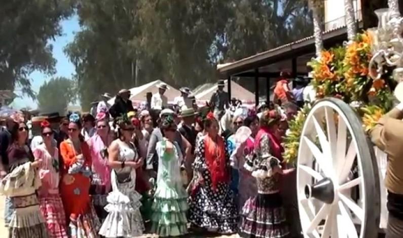 """Rocío 2012 Bonares, """"Preparándose Para La Presentación""""."""