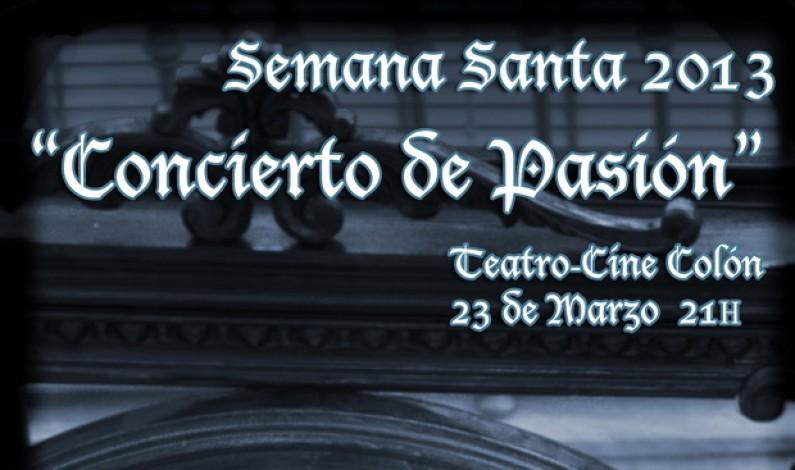 Concierto de Pasión en el Teatro Cine Colón de Bonares.