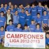 El equipo infantil del C.D.F.B. de Bonares campeón de liga 2012-2013.