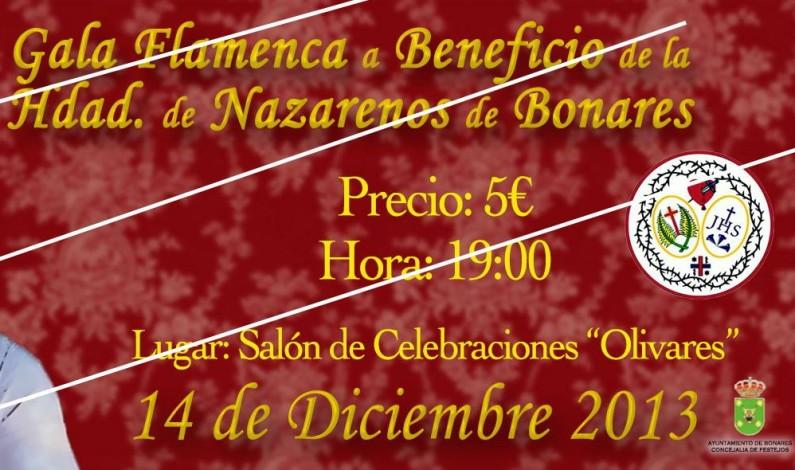 Gran Gala Flamenca a beneficio de la Hermandad de Nazarenos de Bonares.