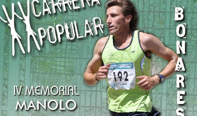 """El domingo día 7 se celebrará la XX Carrera Popular de Bonares """"IV Memorial Manolo Márquez"""","""