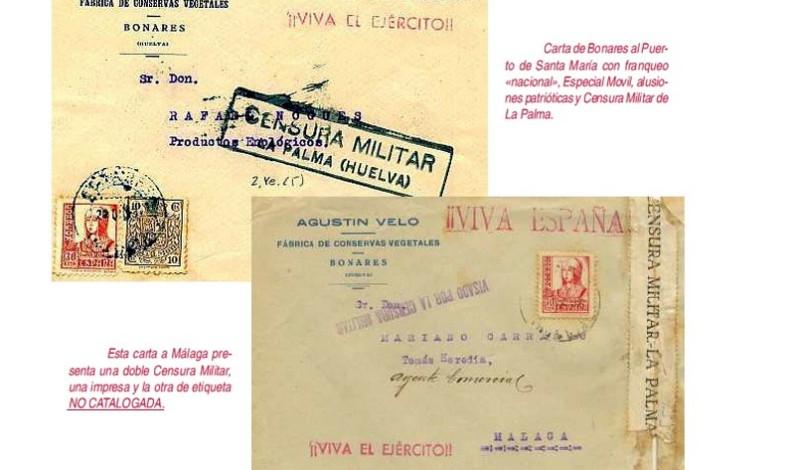 Historia Postal de Bonares durante la Guerra Civil.