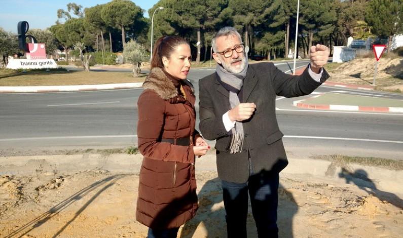 Invertidos 60.000 euros en mejorar la carretera de entrada a Bonares.