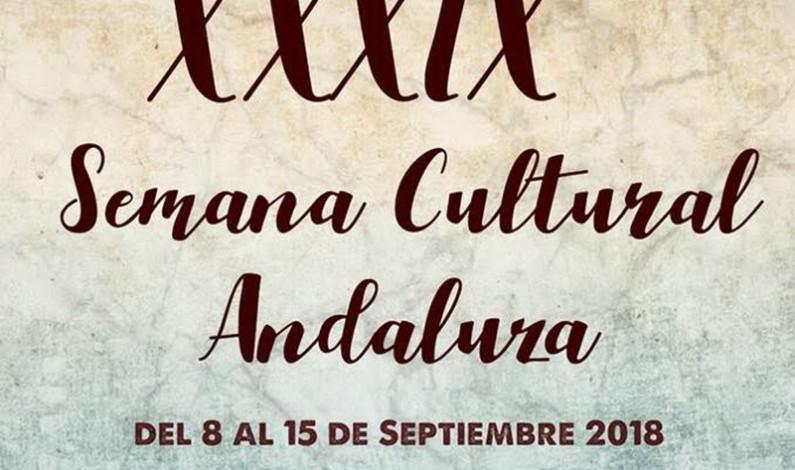 Programación de la Semana Cultural Andaluza de Bonares 2018.