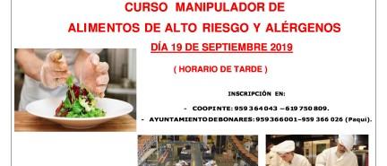 Curso de Manipulador de Alimentos organizado por Coopinte.