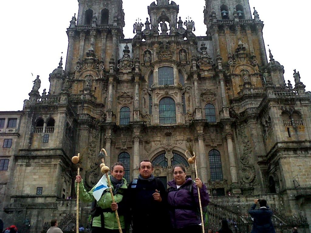 """""""Delante de la Catedral de Santiago de Compostela"""""""