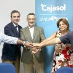 Cajasol-Banca Cívica apuesta por la economía social de Bonares.