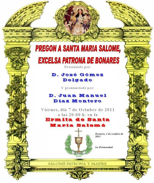 """""""Cartel del Pregon de la santa 2011"""""""