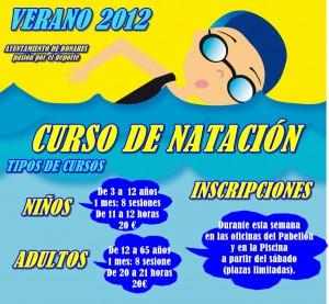 cartel curso de natacion 2012