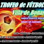 El próximo sábado 1 de septiembre se celebra el IV Trofeo Villa de Bonares de Fútbol.
