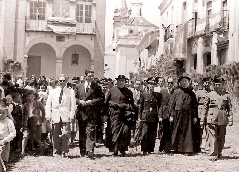 dia del corpus en Bonares años 40