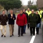 La Diputación de Huelva reforma la carretera más transitada de Bonares.