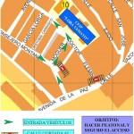 """Corte de acceso al Colegio Lora Tamayo,""""Camino escolar seguro""""."""