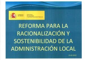 Reforma A. Local Consejo Ministros