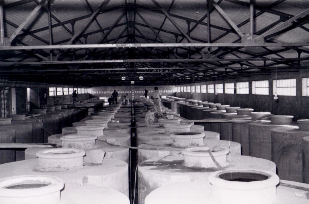 depósitos, teniendo una capacidad de doce mil hectolitros