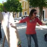 El Instituto de Bonares  traslada sus clases a la calle en protesta por los recortes en educación.