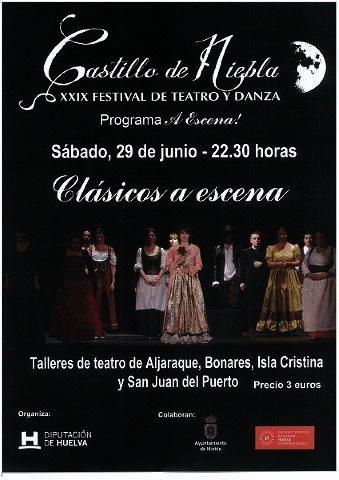 Mañana sábado, dentro del XXIX Festival de Teatro y Danza Castillo de Niebla, organizado por la Diputación Provincial, actuará el Taller Municipal de Teatro Junco y Romero, junto a otros talleres provinciales.