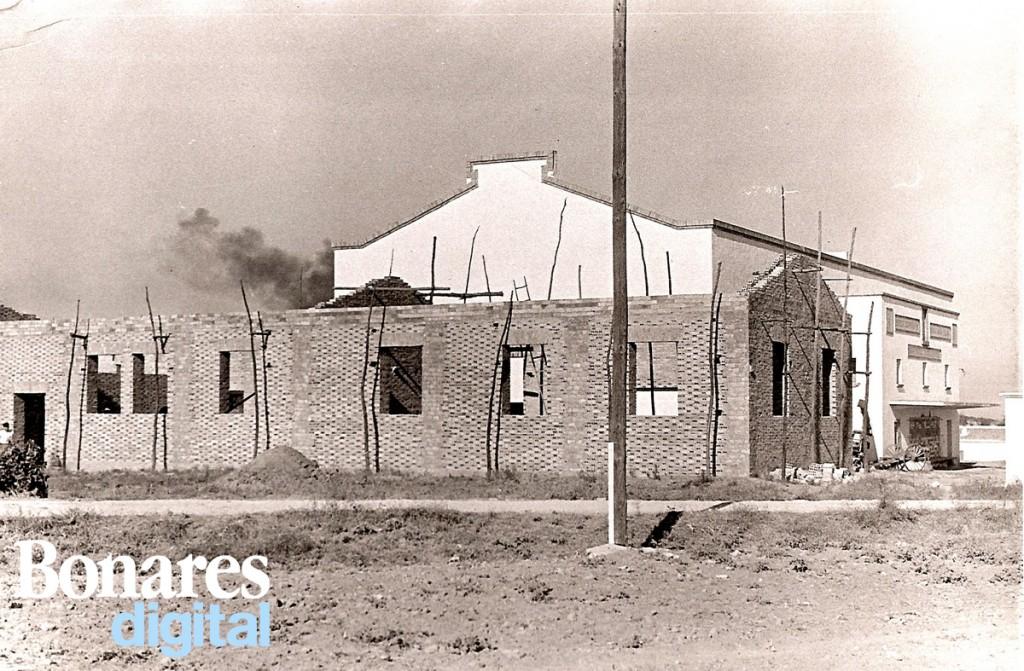 Almazara de Bonares en construcción.