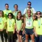 Los veteranos del Club Atletismo El Lince, se vienen de Malaga con 12 medallas.