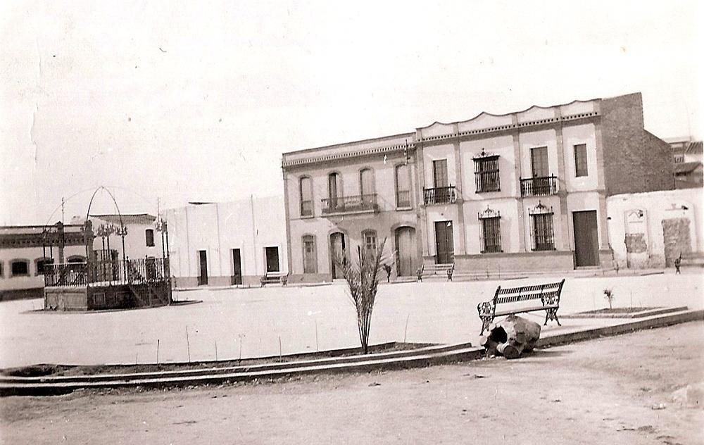 plaza de España de Bonares Huelva