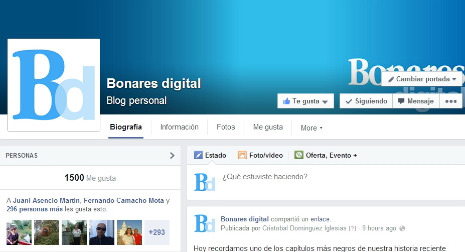 """""""bonares facebook"""""""