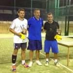 Gustavo Vega y Francisco Moreno  ganadores del  AYTO PÁDEL CUP de Bonares.