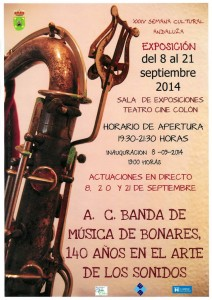 CARTEL EXPOSICIÓN ASOCIACION CULTURAL BANDA DE MUSICA DE BONARES