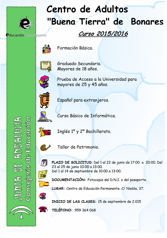 educación de adultos de Bonares