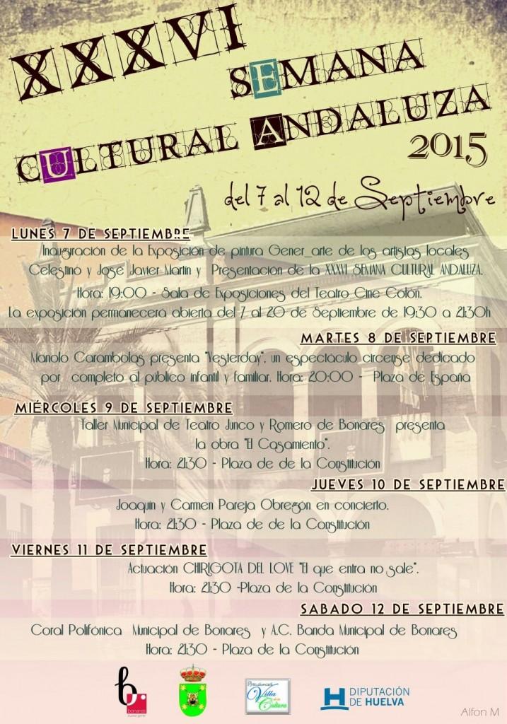 programacion de la semana cultural de Bonares.