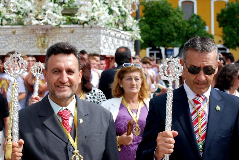 Sándido Coronel presidente de la Hermandad Santa María Salomé de Bonres Huelva.