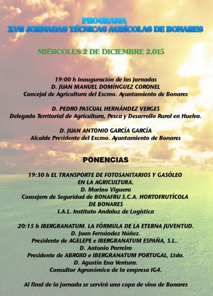 Jornadas agrícolas de Bonares Huelva.