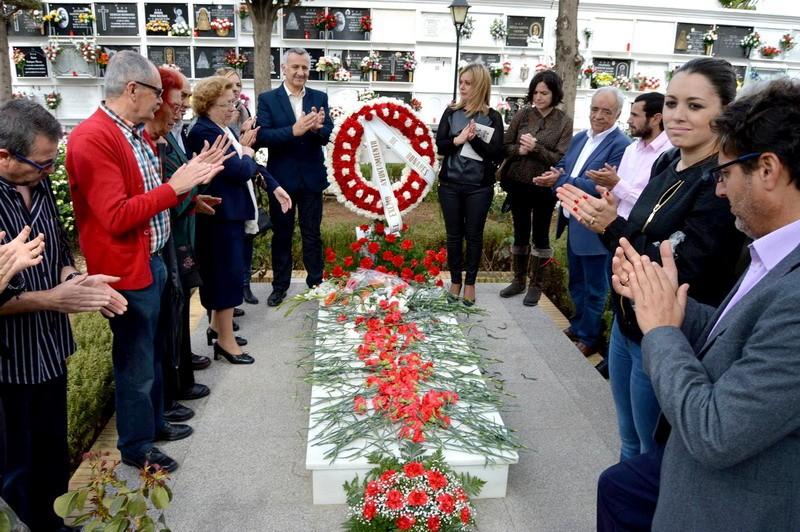 homenaje a las victimas de la guerra civil de Bonares.