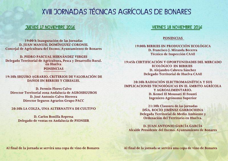 jornadas agrícolas de Bonares
