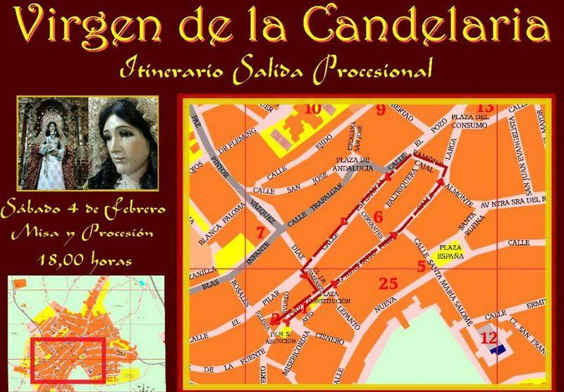 itinerario candelaria bonares