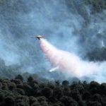 Ultima hora! Incendio de Riotinto, doce medios aéreos trabajan ya en la zona.